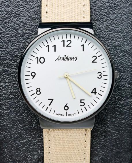 Reloj beig Arabians caballero