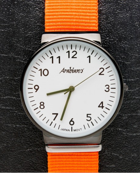 Reloj deportivo naranja Arabian´s caballero.